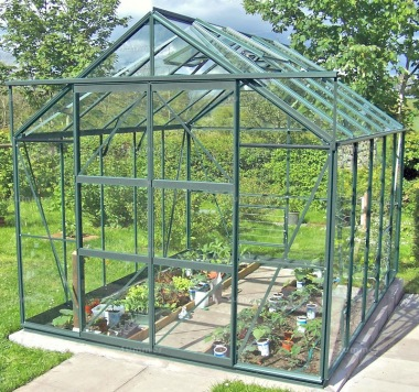 Green Aluminium Greenhouse 16 - Double Door