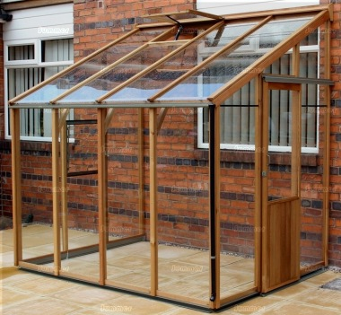 Alton Evolution Six-LT Lean To - Hybrid Cedar Greenhouse