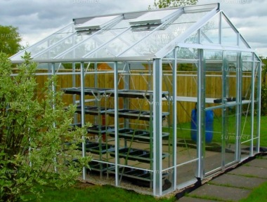 Robinsons Rosette Greenhouse - Grey Finish