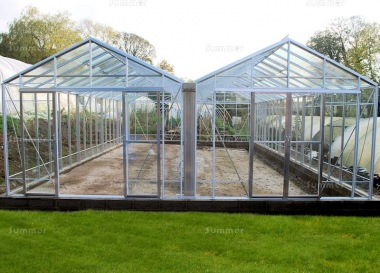 Robinsons Rosette Reach Double Span Greenhouse