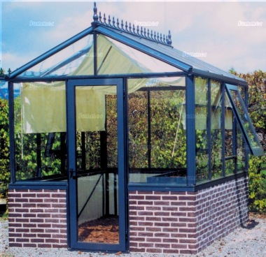 Dwarf Wall Greenhouse 38 - Box Section Aluminium