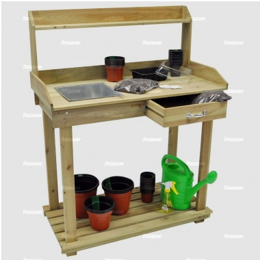 3 Tier Wooden Potting Bench 315