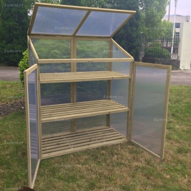 Growhouse 062 - Polycarbonate, 3 Shelves, Grey Finish