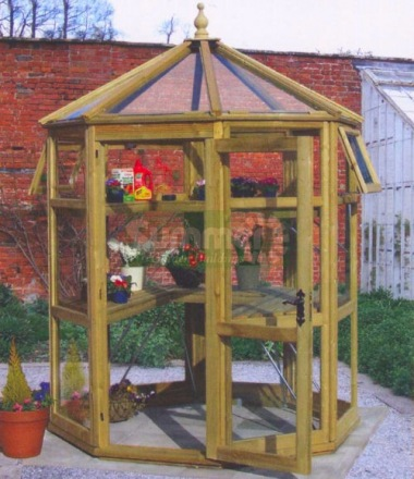 Malvern Suntop Octagonal Greenhouse - Glass to Ground