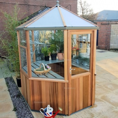 Alton Evolution Octagonal 6x6 - Hybrid Cedar Greenhouse