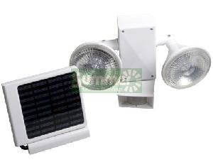 Solar powered outside lights with motion sensors - no running costs