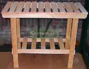 GREENHOUSES xx - Heavy duty wooden 2 tier staging