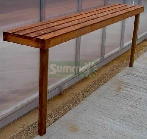 Heavy duty wooden 1 tier staging - with 3x2 framing