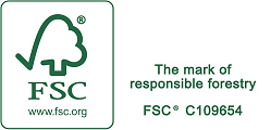 Registered with the Forest Stewardship Council (FSC) - click to see more