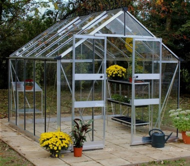 Eden Blockley Greenhouse - Silver