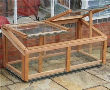 Alton Evolution Cold Frame - Cedar, Toughened Glass