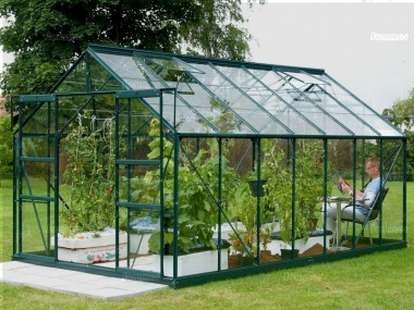 Aluminium Greenhouse 158 - Extra Tall High Eaves, Powder Coated