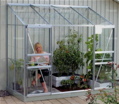 Aluminium Lean To Greenhouse 166 - Double Door