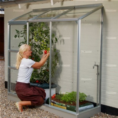 Aluminium Lean To Greenhouse 165
