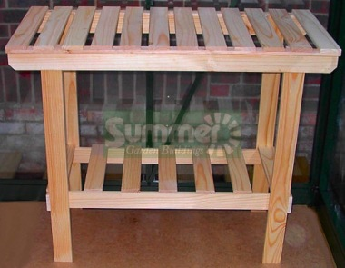 2 Tier Wooden Slatted Staging 311