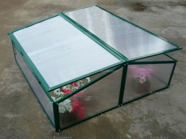 Green Aluminium Cold Frame 316 - Polycarbonate