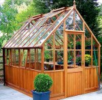 Malvern Victorian Cedar Greenhouse - Part Boarded