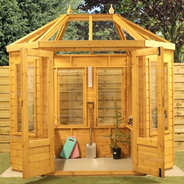 Octagonal Greenhouse 292 - Part Boarded