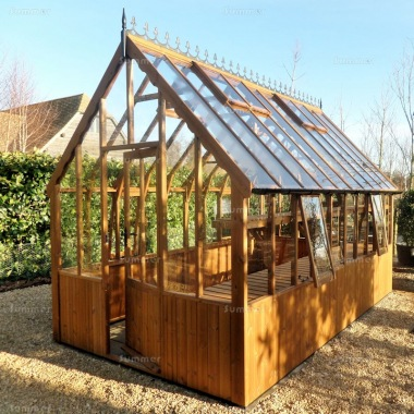 Thermowood Victorian Greenhouse 239 - Toughened Glass