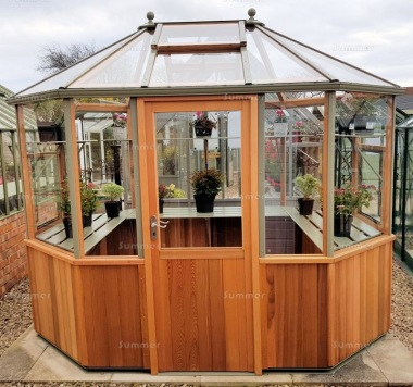 Alton Evolution Octagonal 9x6 - Hybrid Cedar Greenhouse